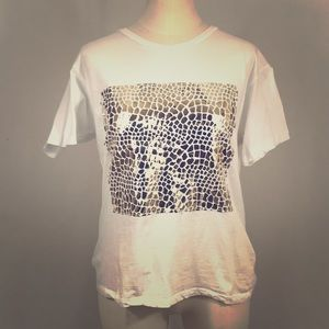 """Urban Outfitter Gold """"plated"""" t shirt"""